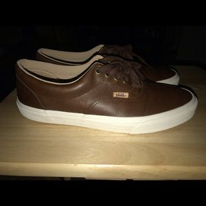 VANS CHOCOLATE LEATHER SHOES 10.5